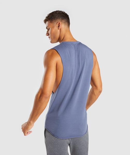 Gymshark Eaze Drop Arm Sleeveless T-Shirt - Aegean Blue 2