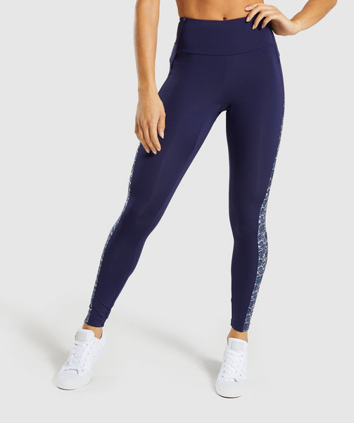 Gymshark Efflux Leggings - Evening Navy Blue 4