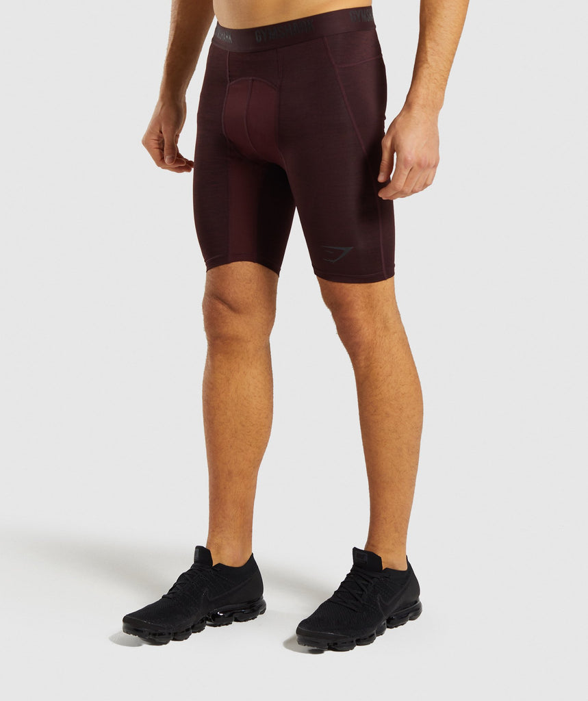 Gymshark Element+ Baselayer Shorts - Ox Red Marl 1