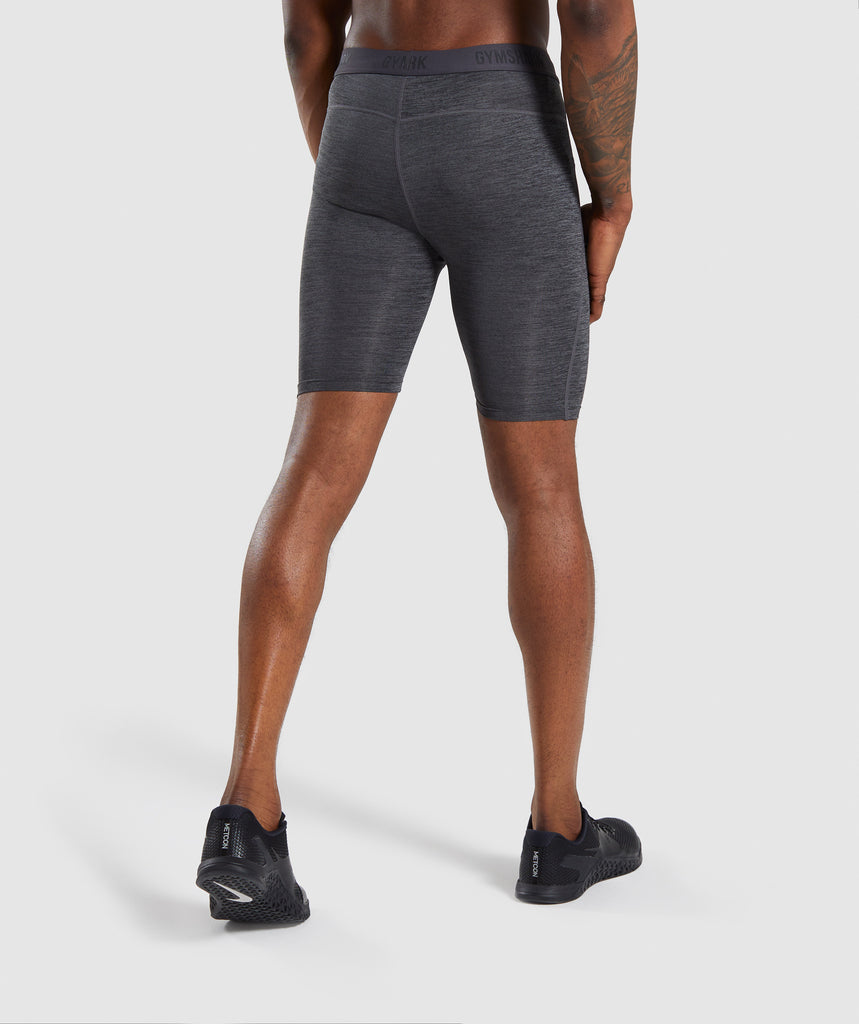 Gymshark Element+ Baselayer Shorts - Black Marl 2