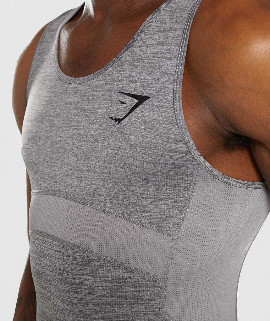 Gymshark Element+ Baselayer Tank - Smokey Grey Marl 5