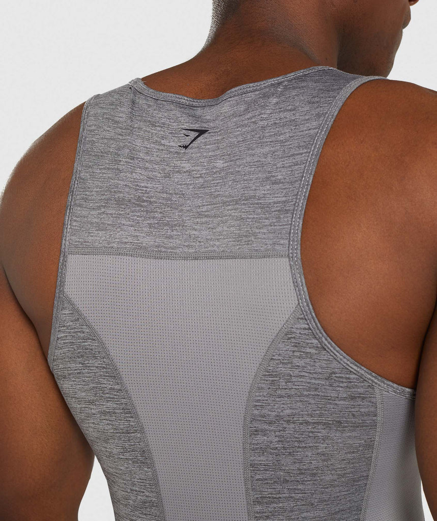Gymshark Element+ Baselayer Tank - Smokey Grey Marl 6