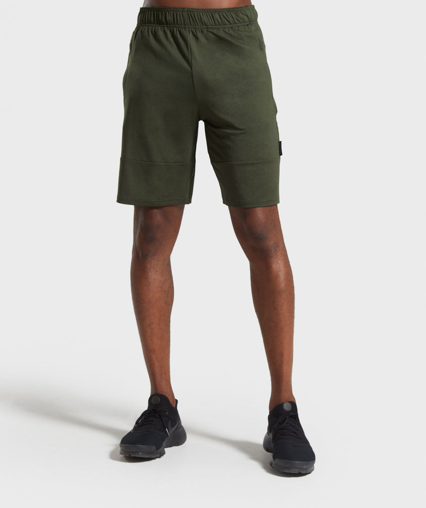 Gymshark Element Shorts - Dark Green Marl 1