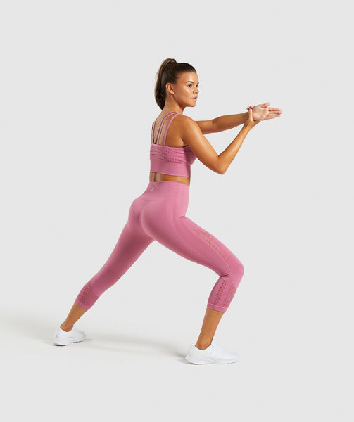 Gymshark Energy+ Seamless Crop Top - Dusky Pink 3