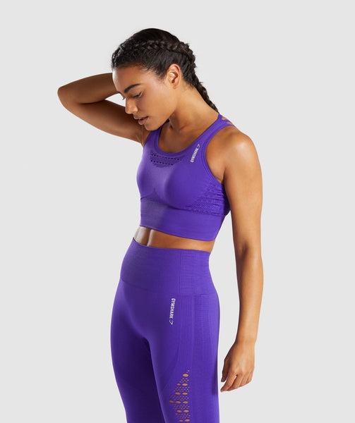 Gymshark Energy+ Seamless Crop Top - Indigo 2