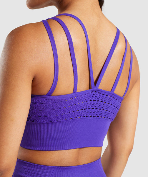 Gymshark Energy+ Seamless Crop Top - Indigo 4