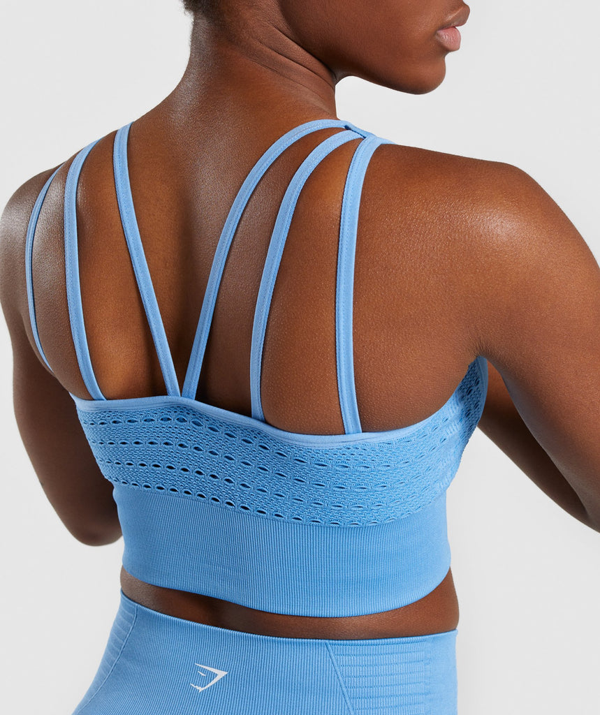 Gymshark Energy+ Seamless Crop Top - Blue 5