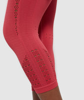 Gymshark Energy+ Seamless Cropped Leggings -  Red 10