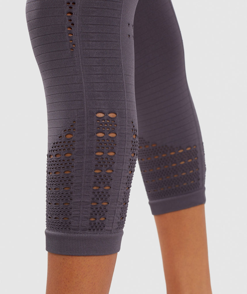 Gymshark Energy+ Seamless Cropped Leggings - Slate Lavender 6