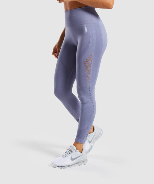 Gymshark Energy+ Seamless Leggings - Steel Blue 4