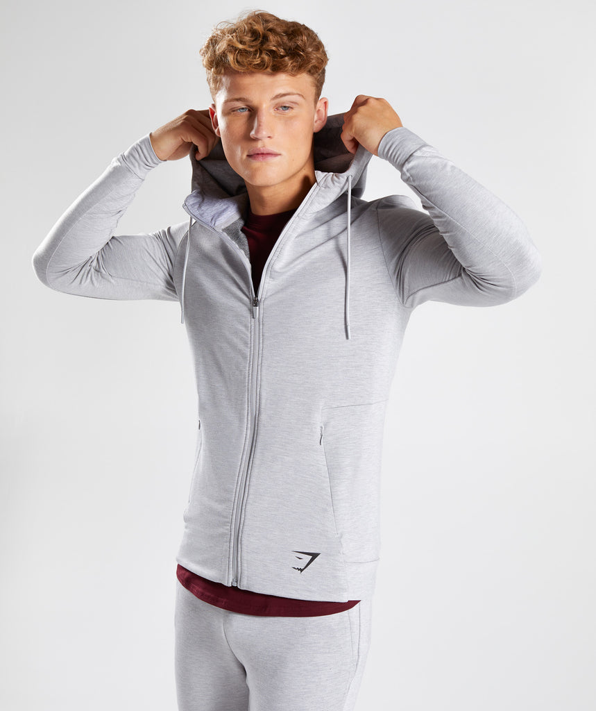 Gymshark Enlighten Zip Hoodie  - Light Grey 4