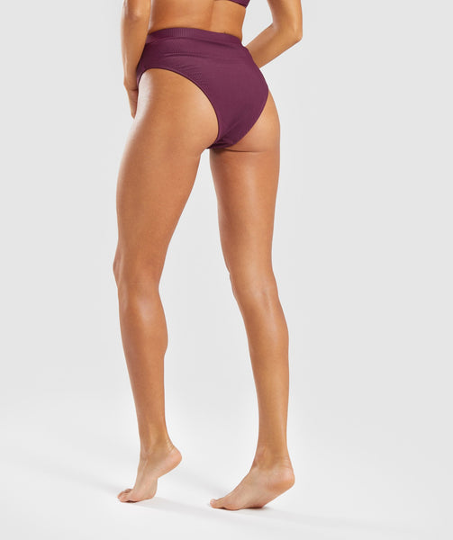 Gymshark Essence Bikini Bottoms - Dark Ruby 1