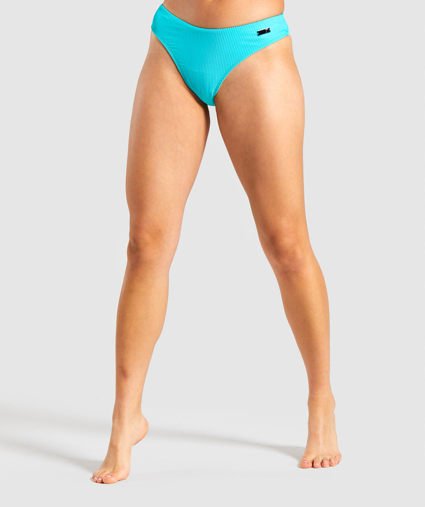 Gymshark Essence Low Rise Bikini Bottoms - Sea Blue 1
