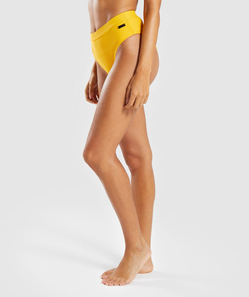 Gymshark Essence Bikini Bottoms - Citrus Yellow 2