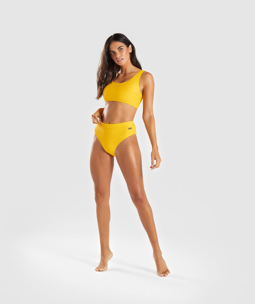 Gymshark Essence Bikini Bottoms - Citrus Yellow 3
