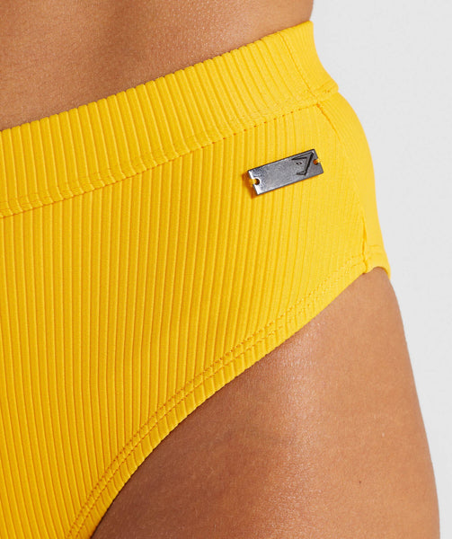 Gymshark Essence Bikini Bottoms - Citrus Yellow 4