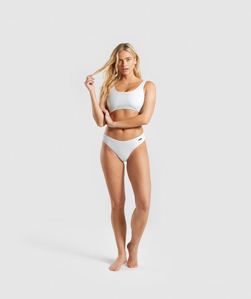 2aba5c74ed5 Gymshark Essence Bikini Low Rise Bottoms - Light Grey | Gymshark
