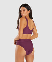 Gymshark Essence Bikini Top - Dark Ruby 8
