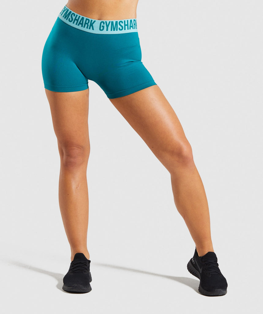 Gymshark Fit Shorts - Emerald/Aqua Green 1
