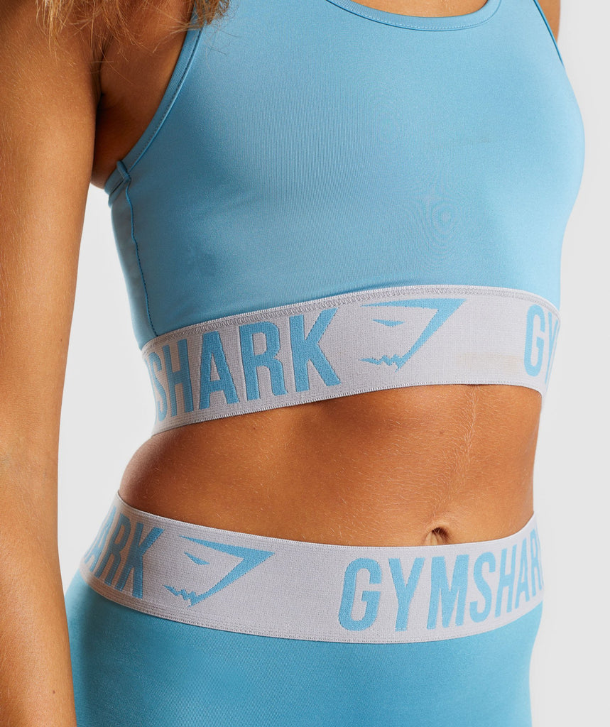 Gymshark Fit Sports Bra - Dusky Teal/Light Grey 6