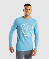 Gymshark Legacy Long Sleeve T-Shirt - Dusky Teal 7