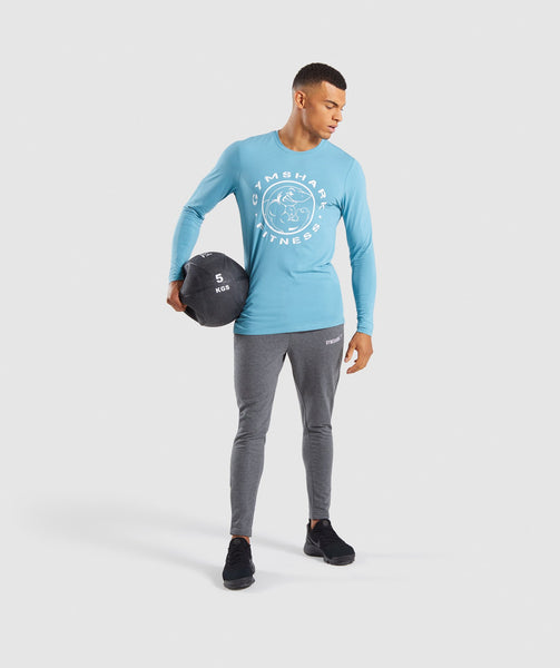 Gymshark Legacy Long Sleeve T-Shirt - Dusky Teal 3
