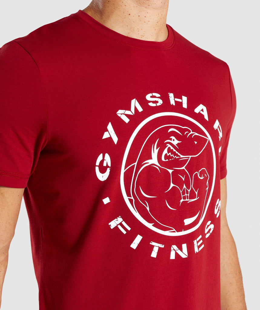 Gymshark Legacy T-Shirt - Full Red 5