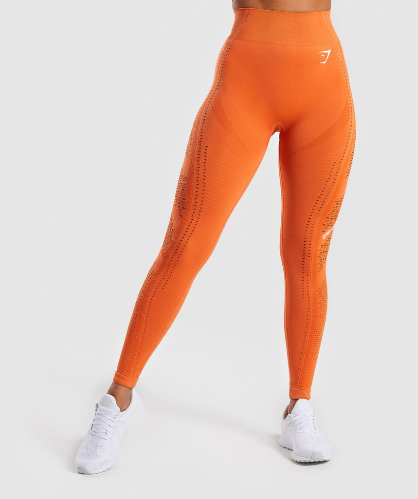 Gymshark Flawless Knit Tights - Burnt Orange 1