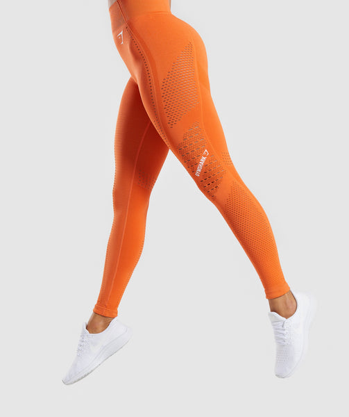 Gymshark Flawless Knit Tights - Burnt Orange 2