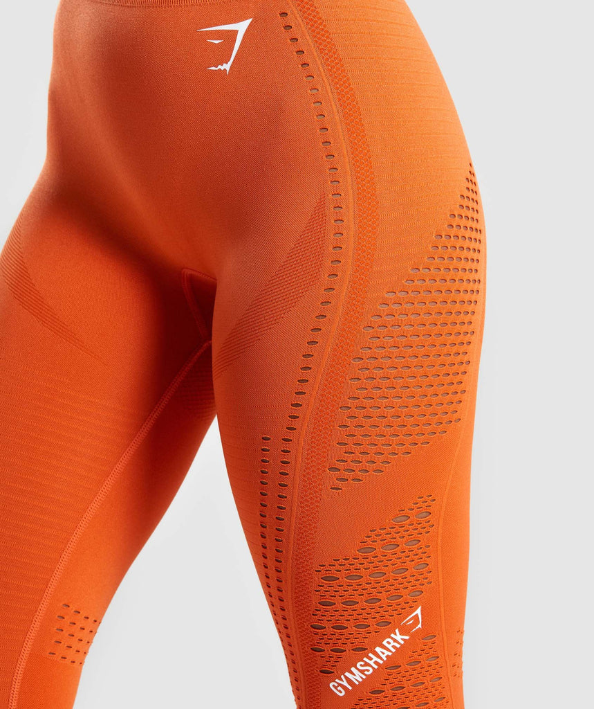 Gymshark Flawless Knit Tights - Burnt Orange 5