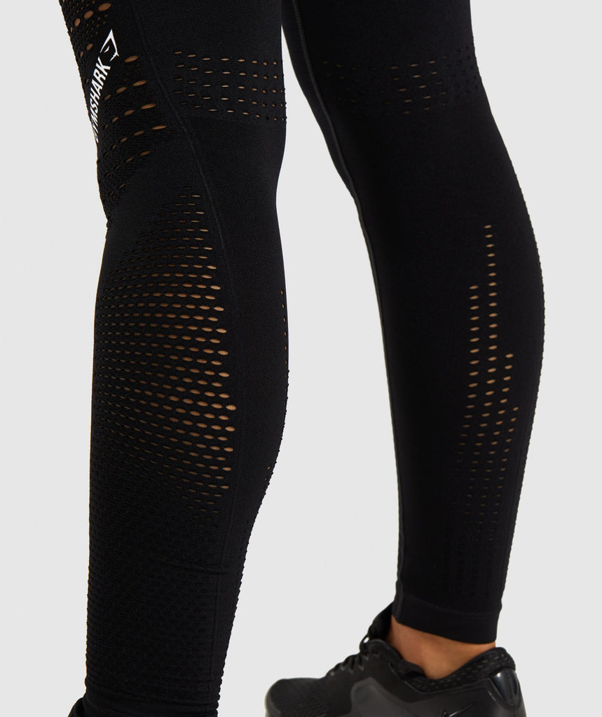 Gymshark Flawless Knit Tights - Black 5