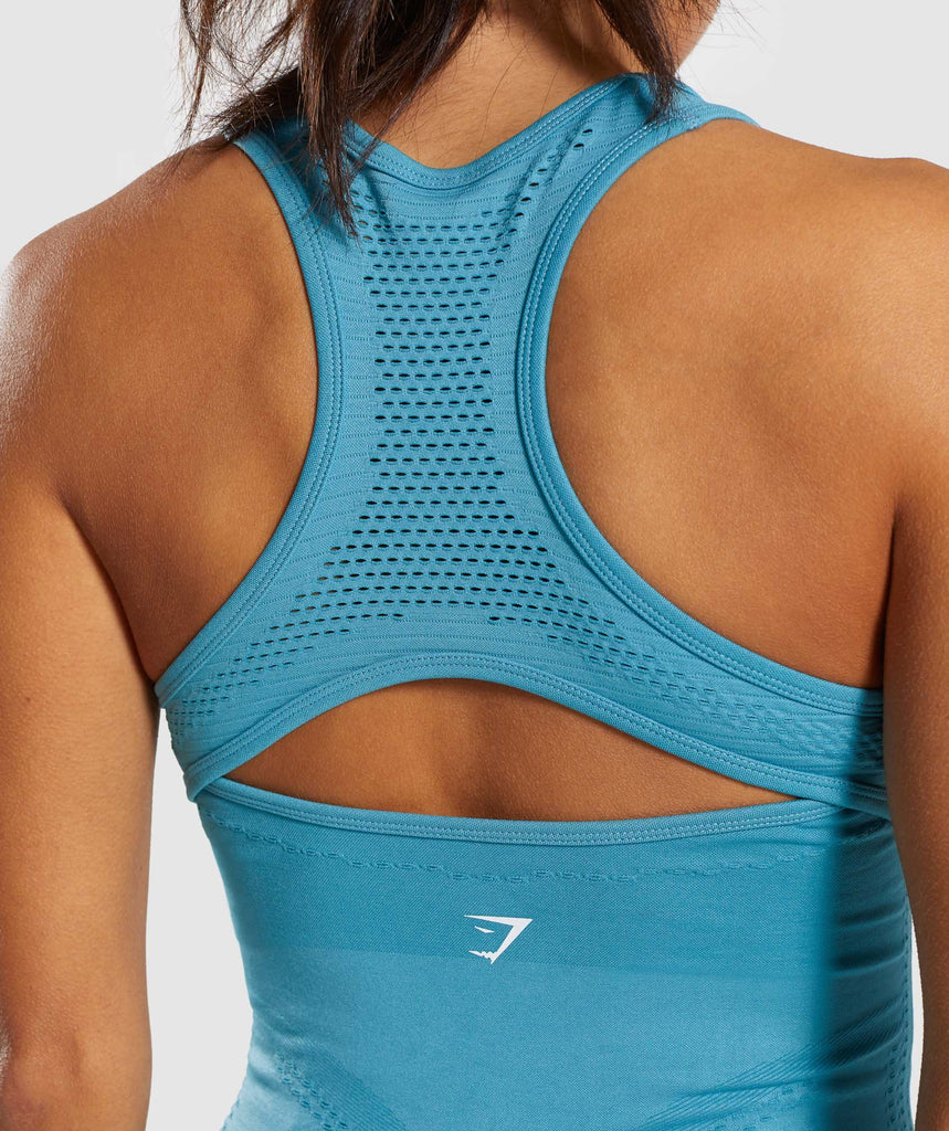 Gymshark Flawless Knit Vest - Sea Blue 5