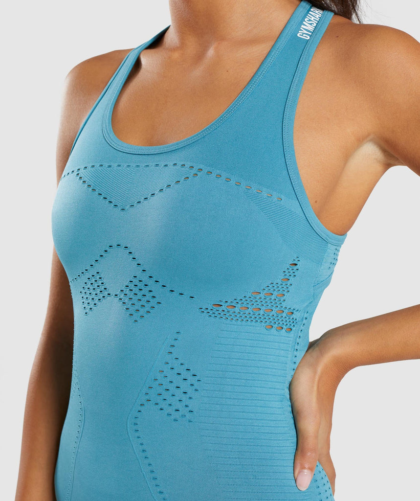 Gymshark Flawless Knit Vest - Sea Blue 6