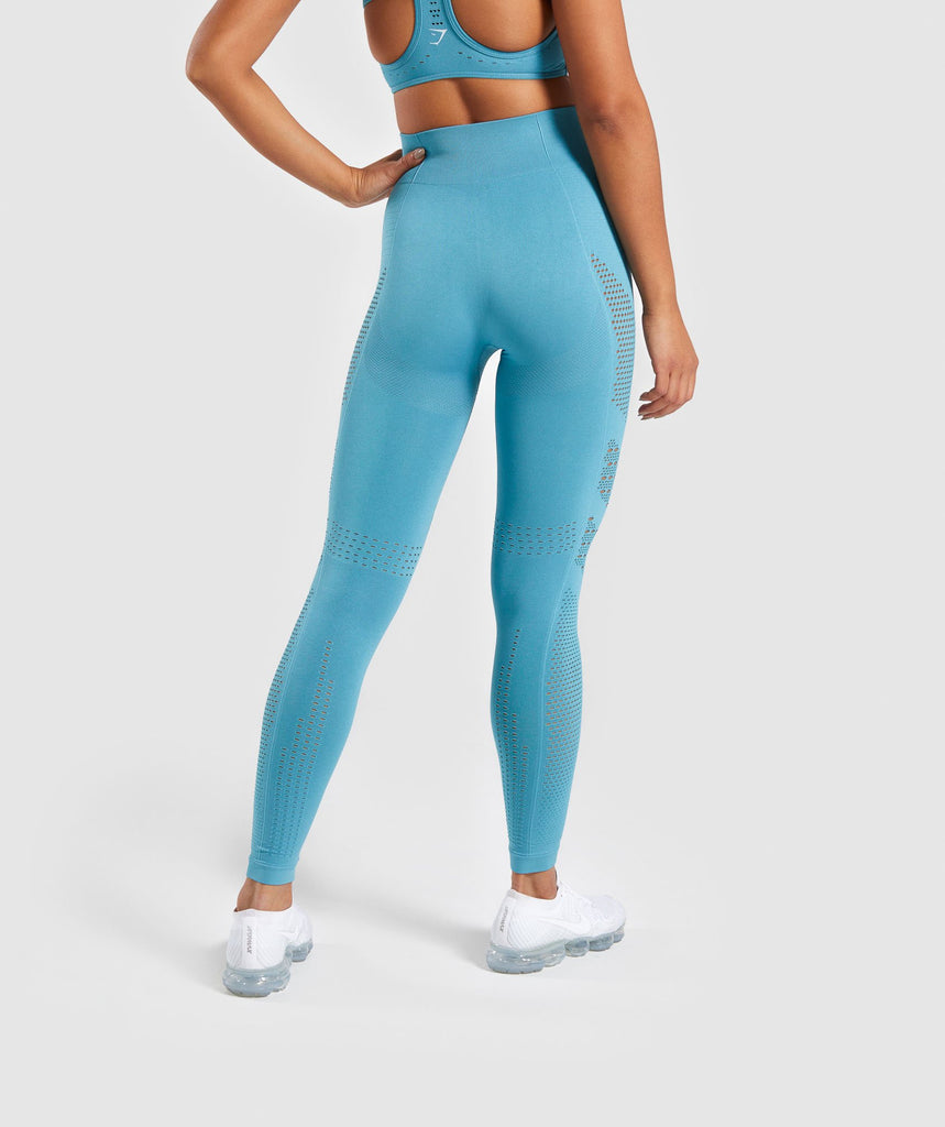 Gymshark Flawless Knit Tights - Teal 2