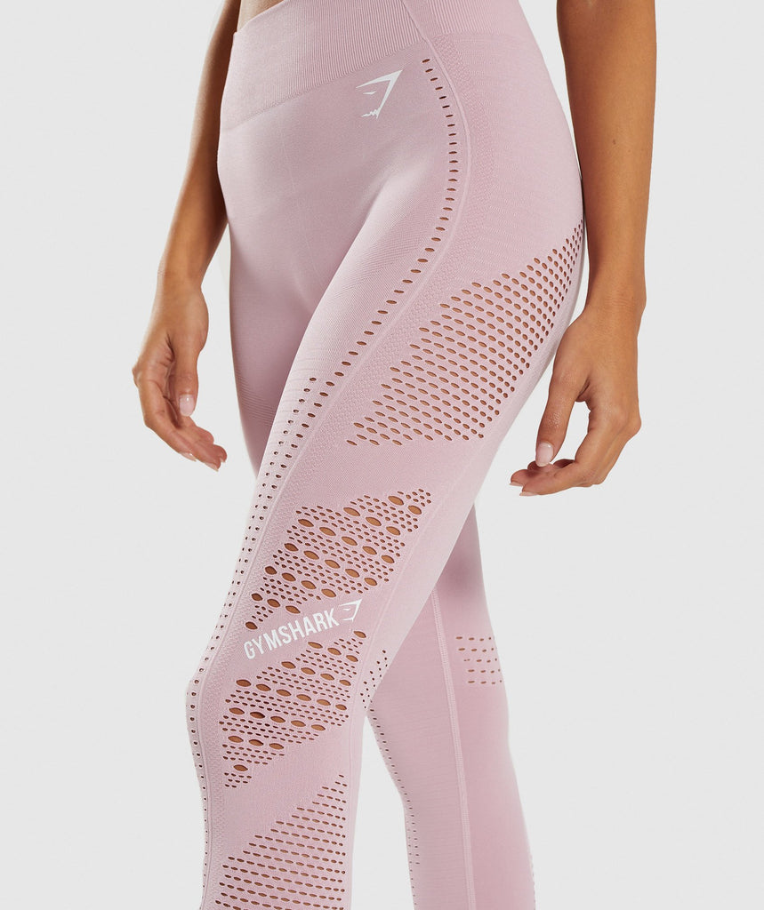 Gymshark Flawless Knit Tights - Washed Lavender 6