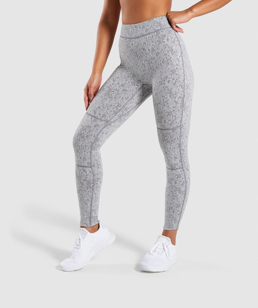 Activewear Bottoms Activewear Gymshark Burnout Leggings Size M Charcoal/cranberry Aesthetic Appearance