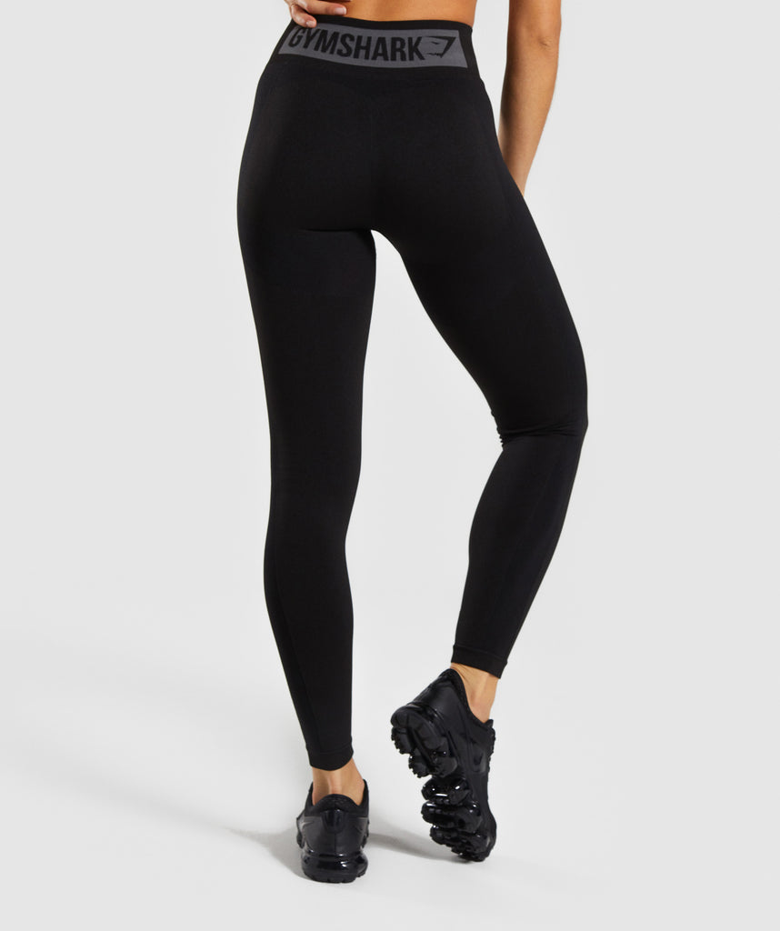 fb024b093fbb2a Gymshark Flex High Waisted Leggings - Black Charcoal 1