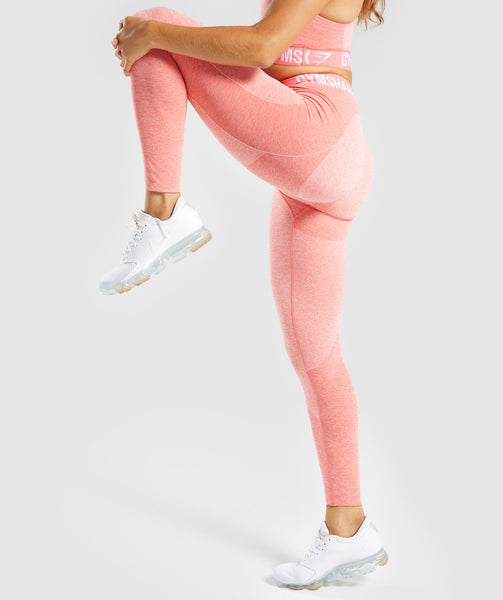 Gymshark Flex Leggings - Peach Coral 2