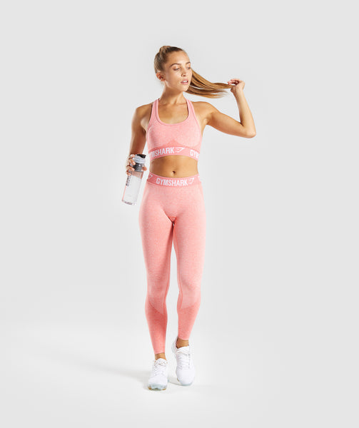 Gymshark Flex Leggings - Peach Coral 4