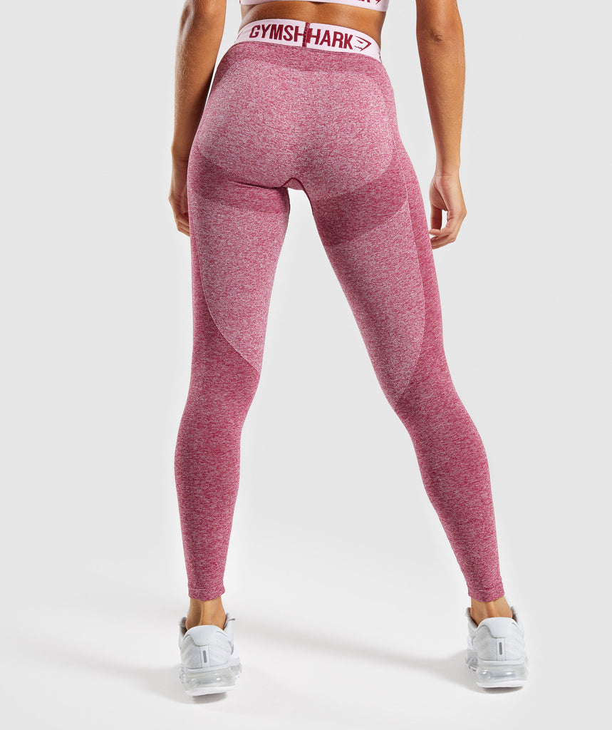 Gymshark Flex Leggings - Beet Marl/Chalk Pink 2