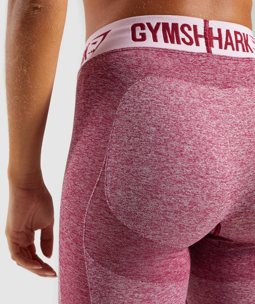 Gymshark Flex Leggings - Beet Marl/Chalk Pink 6