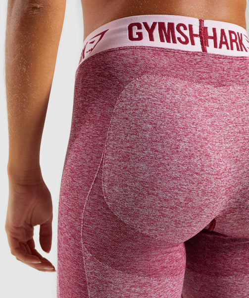 Gymshark Flex Leggings - Beet Marl/Chalk Pink 4