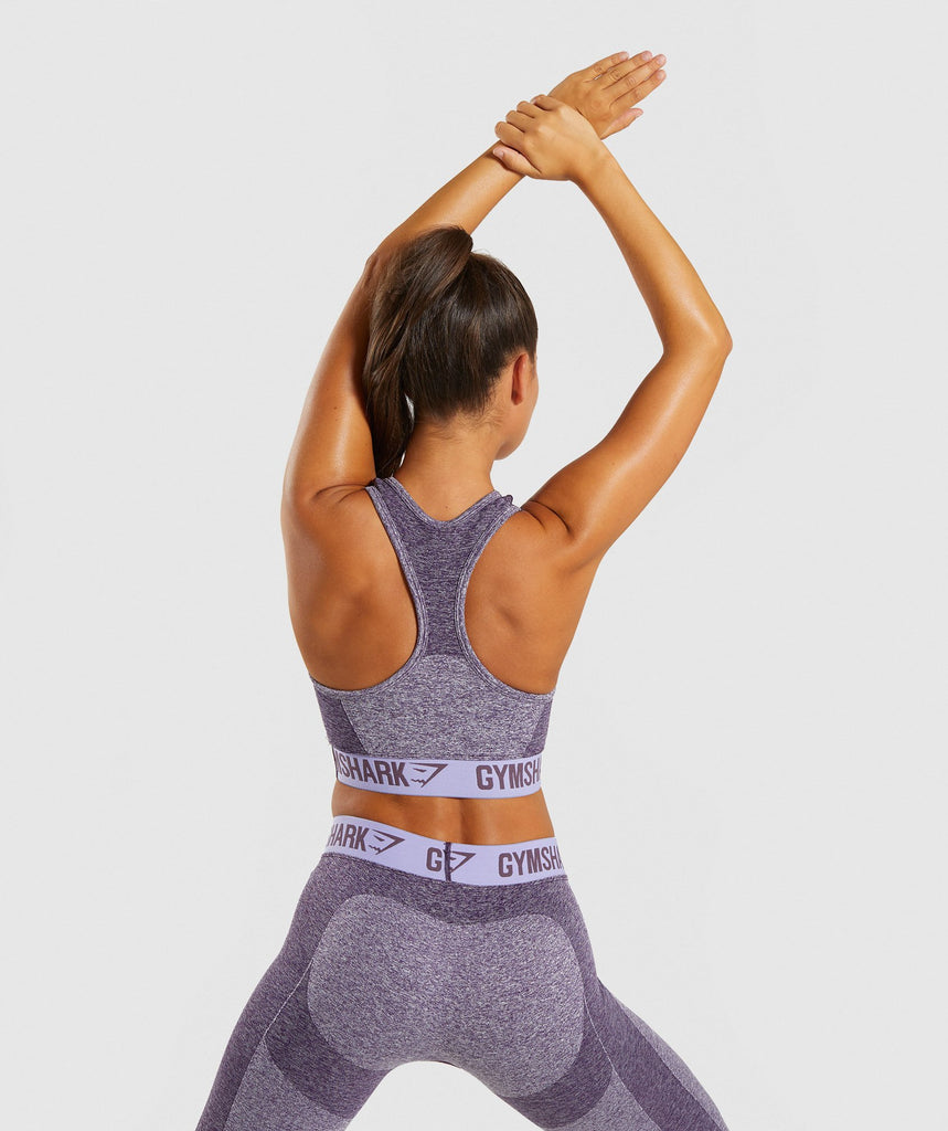 Gymshark Flex Sports Bra - Rich Purple/Pastel Marl 2