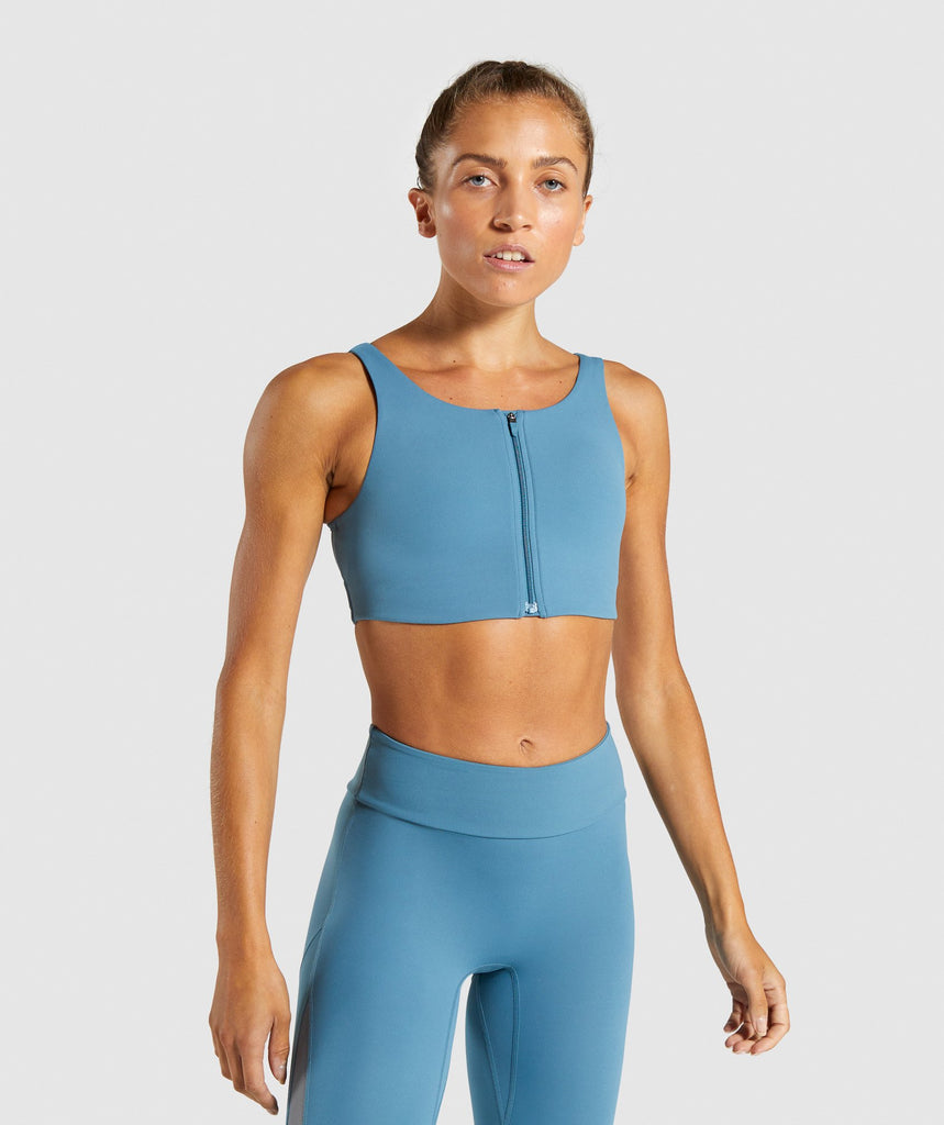 Gymshark Form Sports Bra - Teal 1