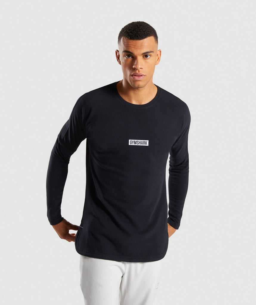 Gymshark Fresh Long Sleeve T-Shirt - Black 1