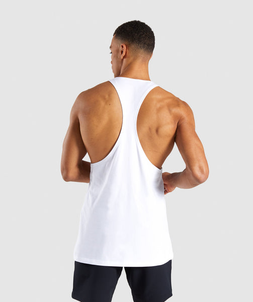 Gymshark Ascend Stringer - White 1
