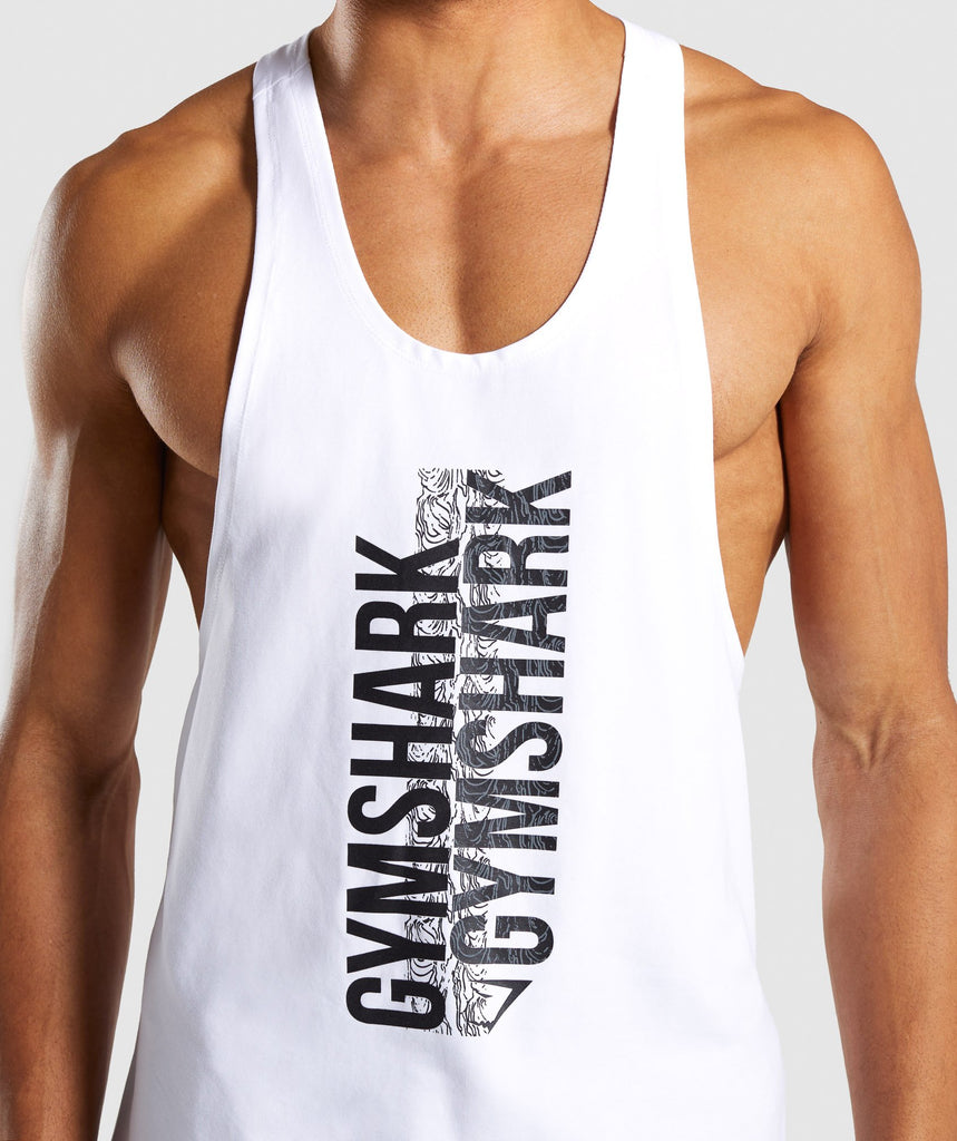 Gymshark Ascend Stringer - White 5