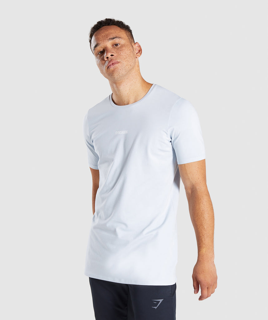 Gymshark Geo T-Shirt - Clear Water 1