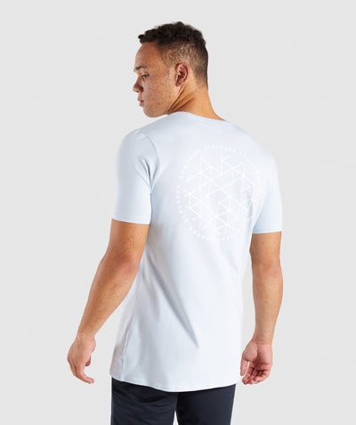 Gymshark Geo T-Shirt - Clear Water