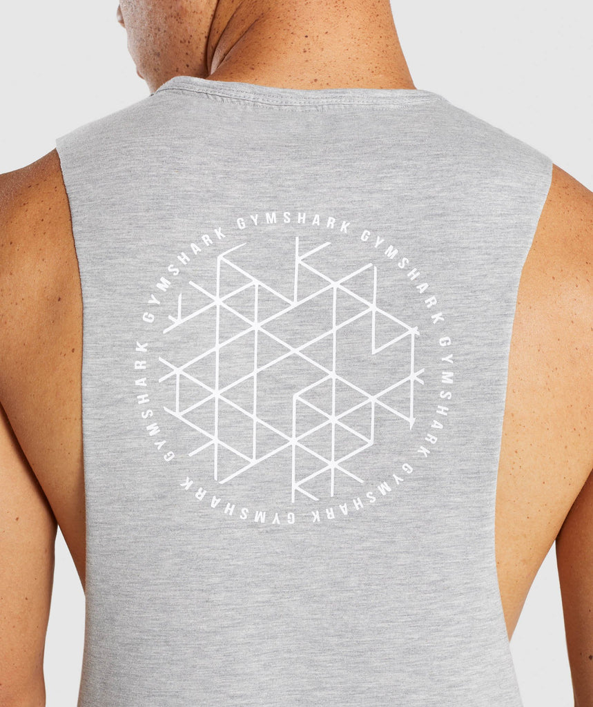 Gymshark Geo Tank - Light Grey Marl 6